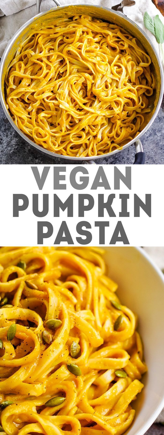 Creamy Pumpkin Sage Pasta - Fitness-Food & Recipes (gesund & vegan) -