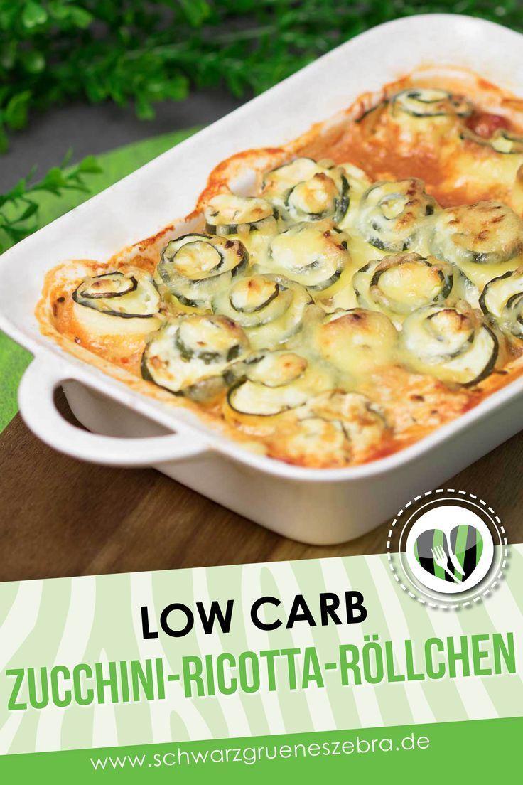 Zucchini-Ricotta-Röllchen ist Low Carb, glutenfrei und vegetarisch