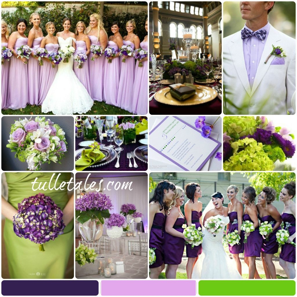 Purple Green Wedding 2014
