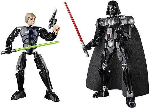 LEGO Star Wars Buildable Figures  Luke Skywalker  Darth Vader