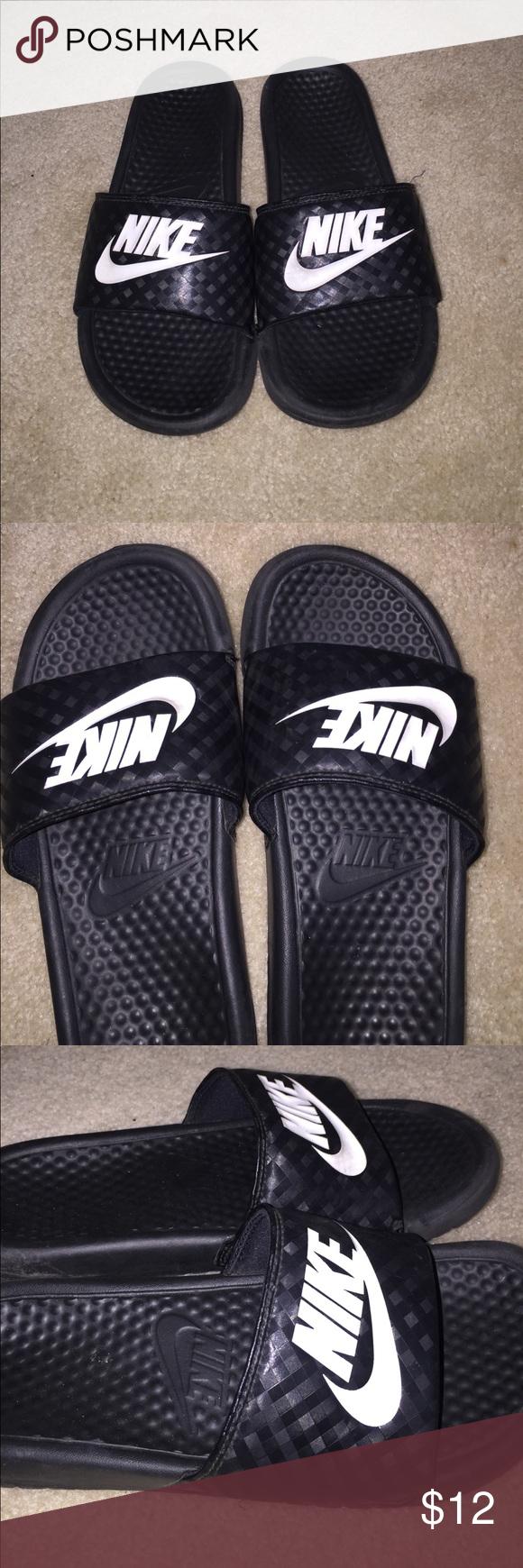 52e5de3b54de69 Nike Slides black nike sandals