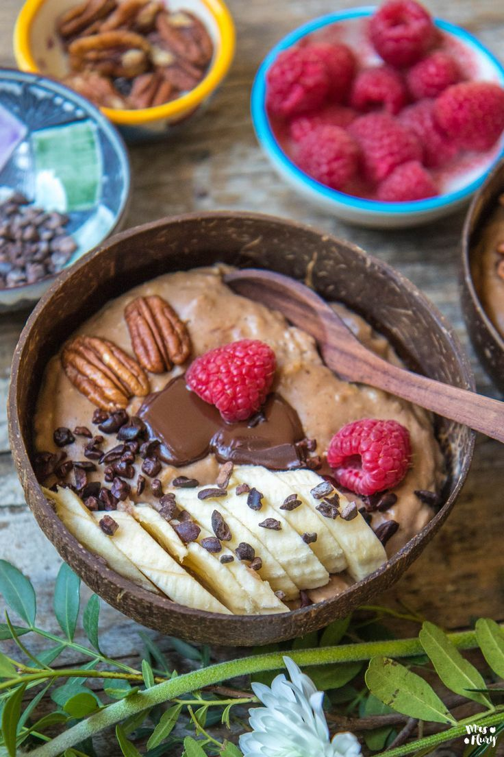 Chocolate pudding oats – delicious and filling! – Mrs Flury – eat and live healthy  – *Haferflocken Rezepte*