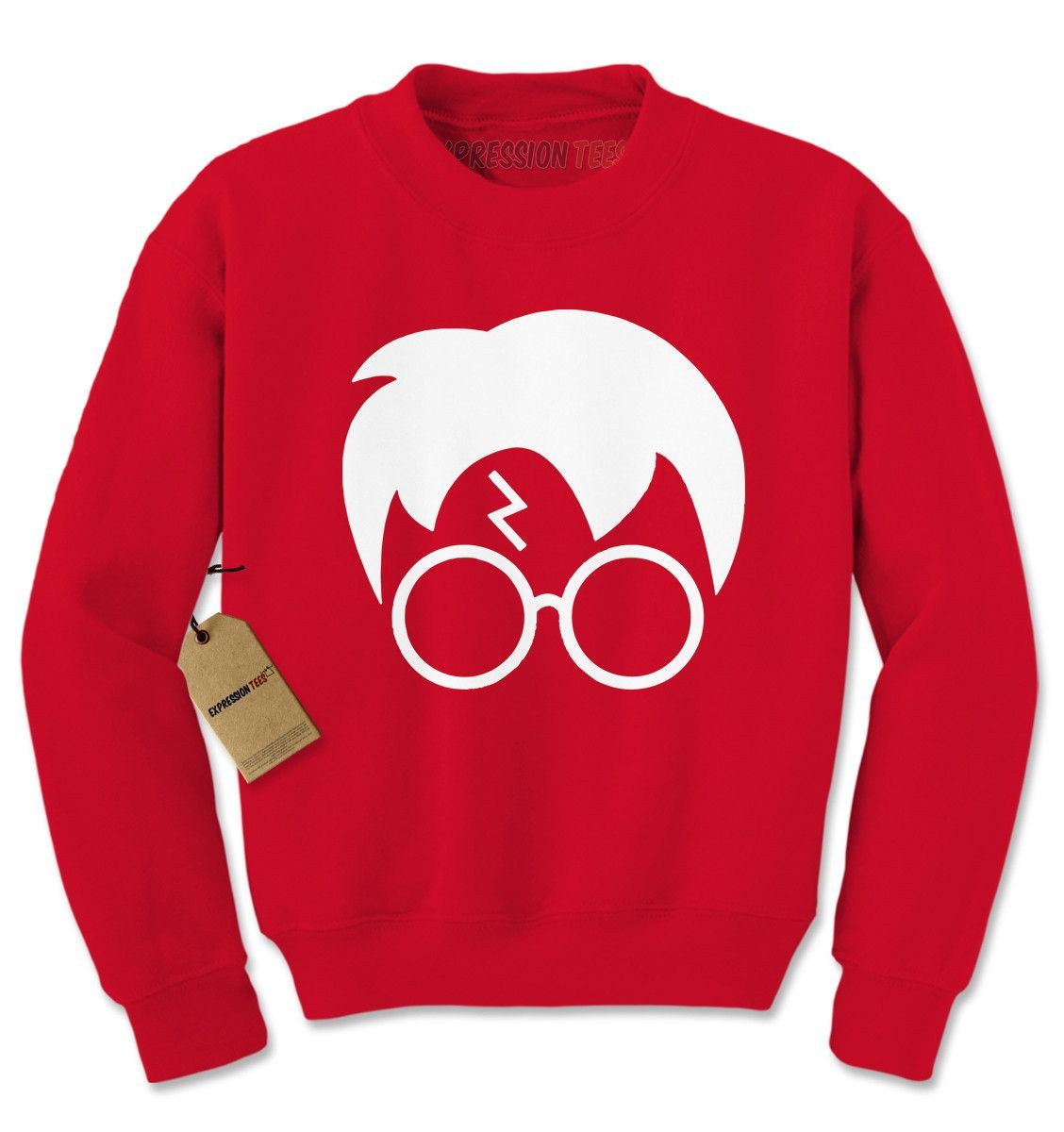 Harry Glasses Lightning Bolt Hair Adult Crewneck Sweatshirt