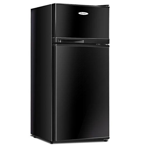 Costway 3 4 Cu Ft 2 Door Compact Mini Refrigerator