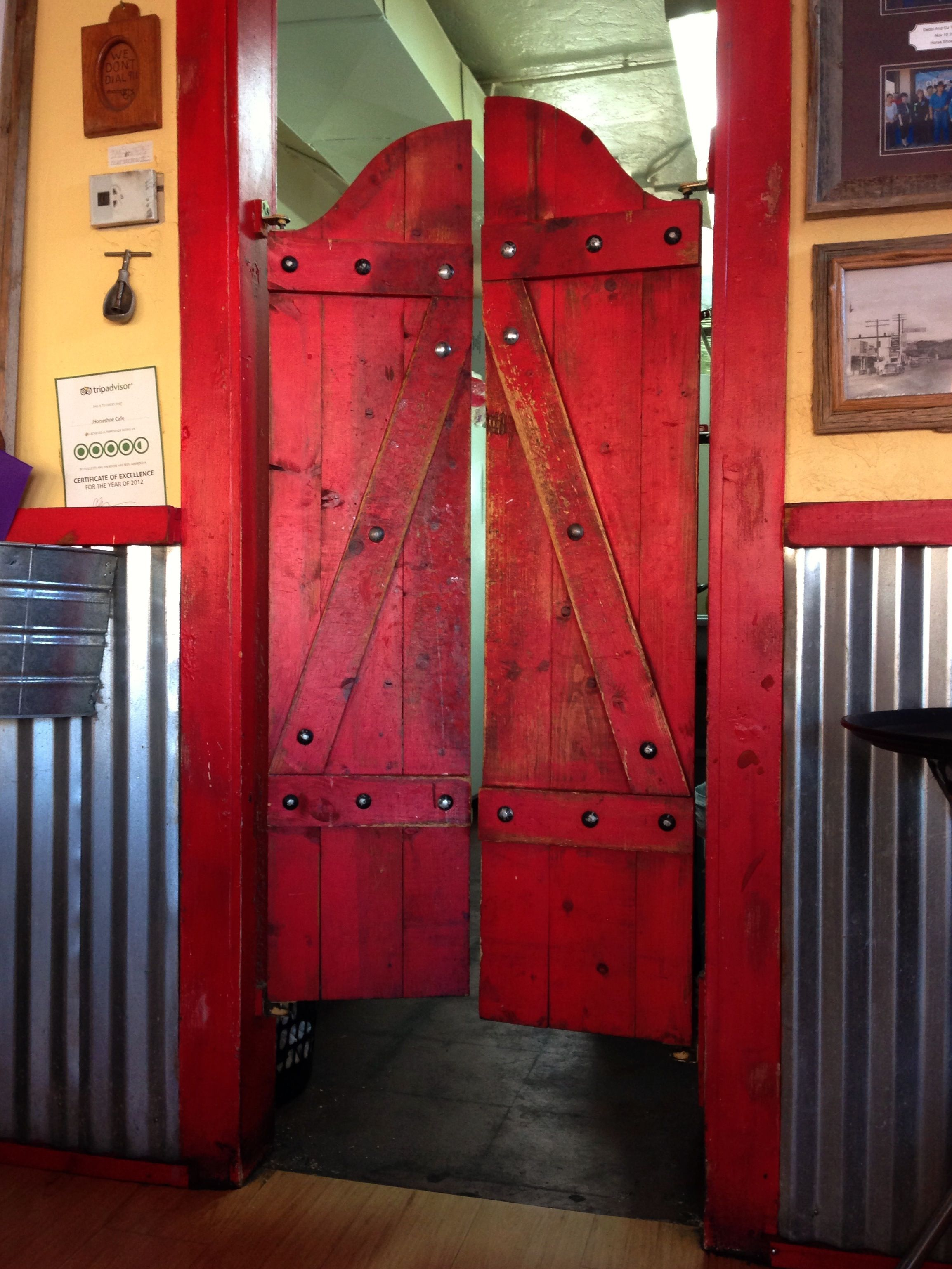 Beautiful Saloon Doors at the Horseshoe Cafe in Wickenburg Arizona - photo by Ken Bosma at the Horseshoe Cafe in Wickenburg Arizona & Custom Full Length Cafe Doors/ Saloon Interior Doors | Garages ... Pezcame.Com