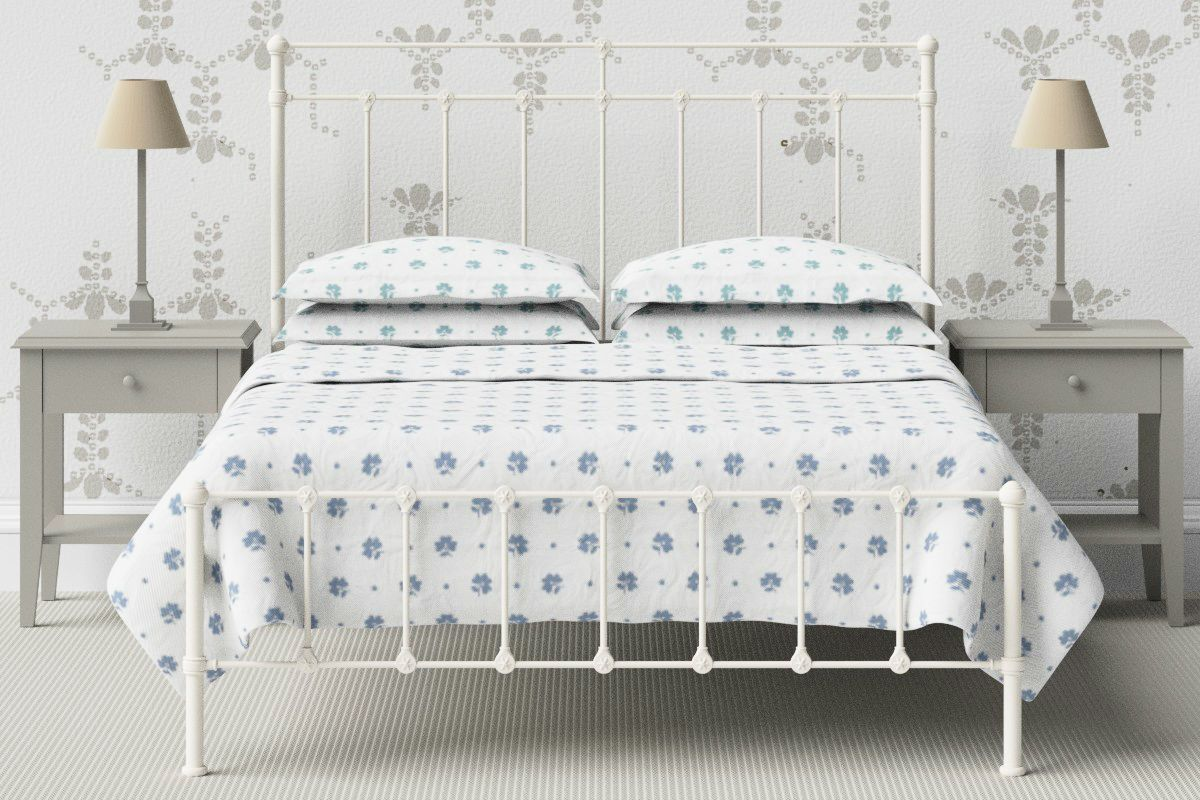 King Size Cast Iron Amy Bed In Ivory Idee Casina Pinterest Bed