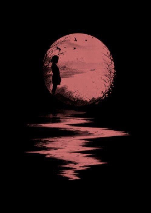 Clair de lune | Art rouge, Les arts, Lune de sang