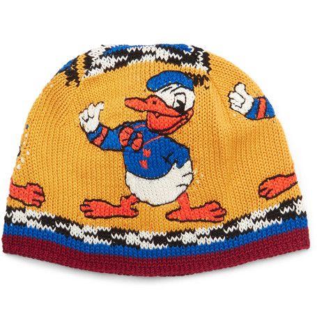 gucci donald duck beanie