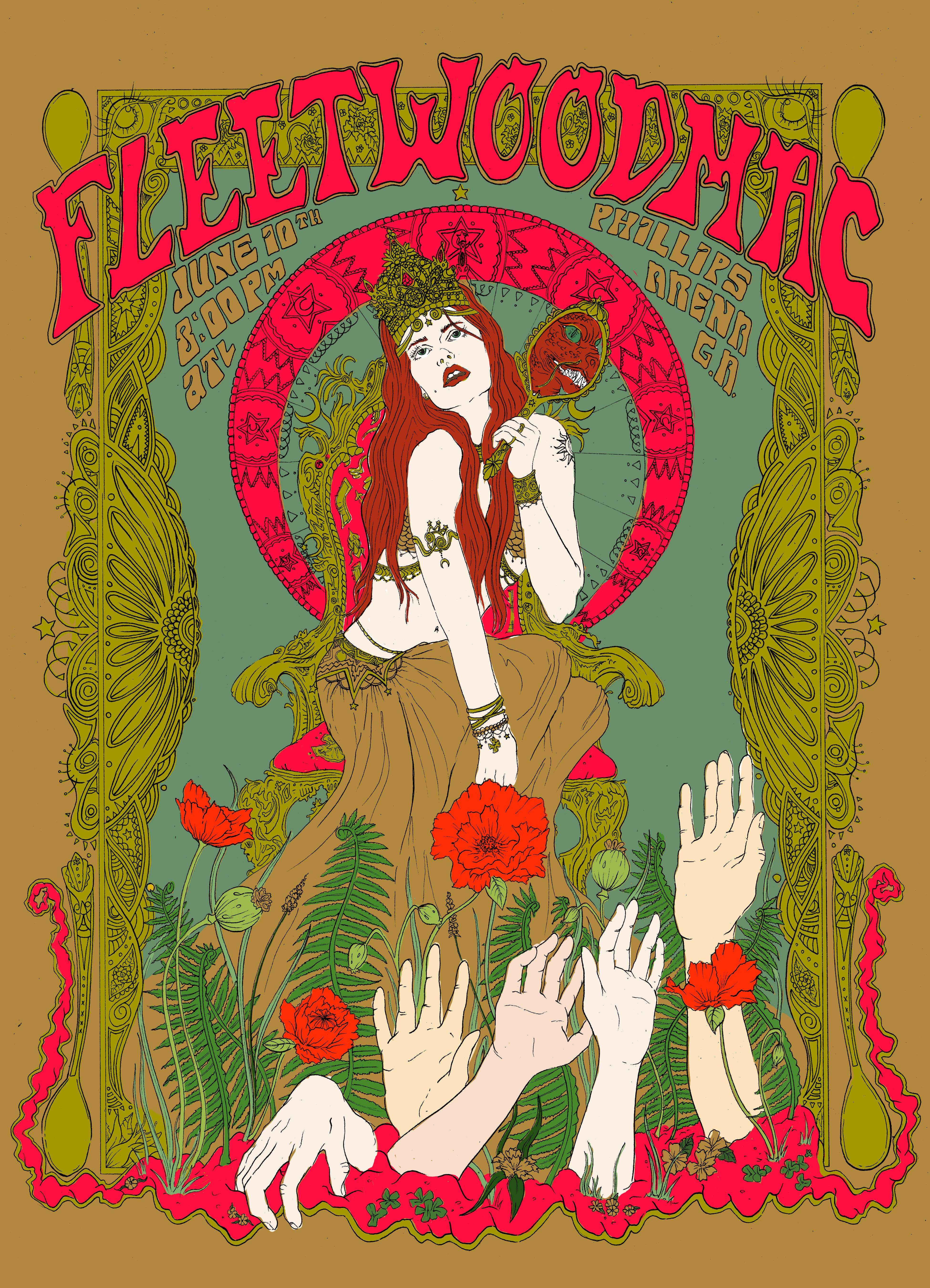 Fleetwood Mac Vintage Music Posters Psychedelic Poster Concert Posters