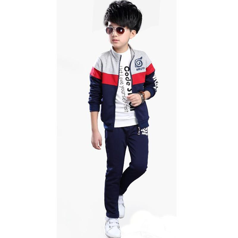 73ae8dfcf3eed Teenage Boy Clothes Sets Children Costume Boys Clothing Boutique ...