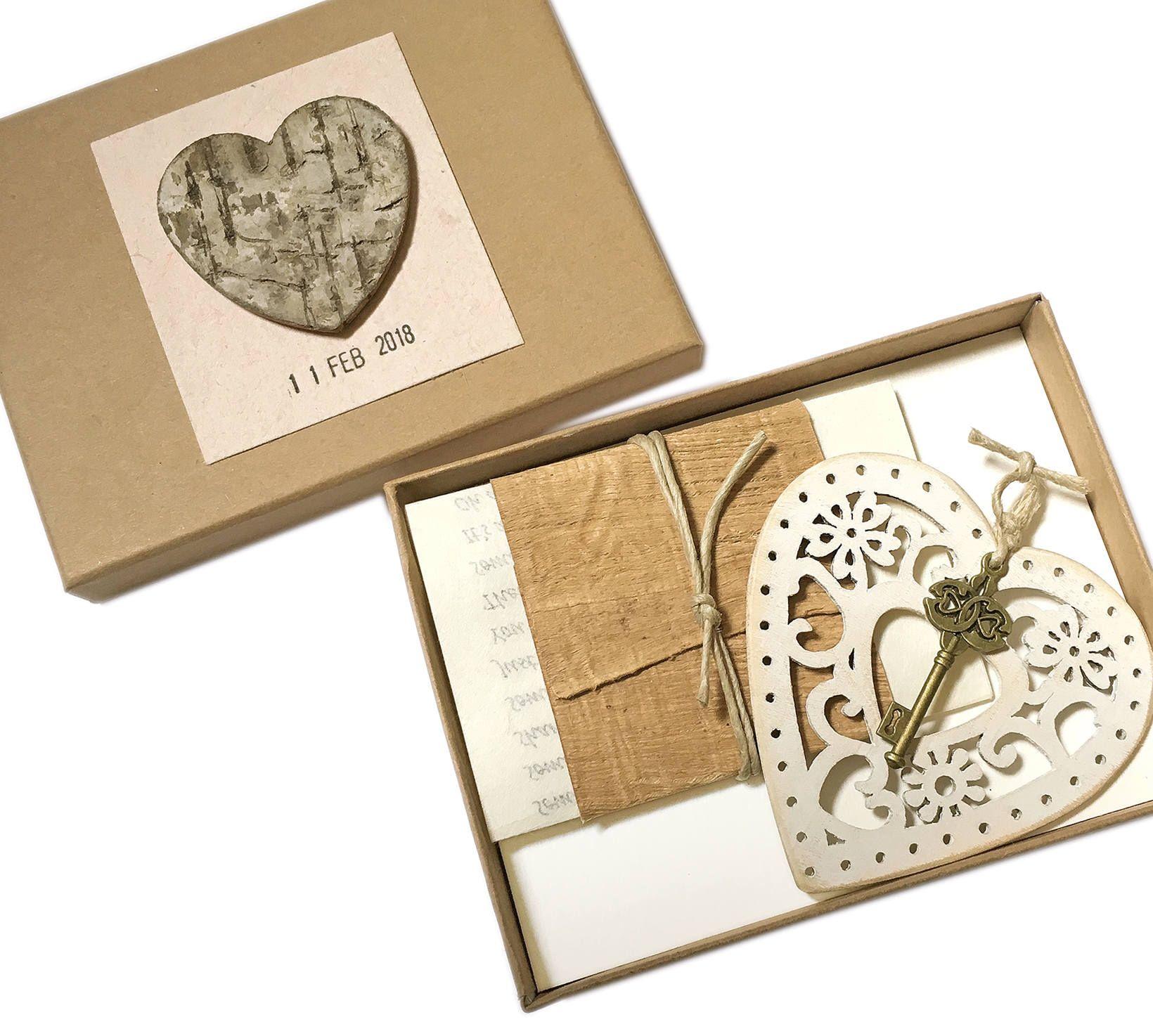 Wood anniversary gift for wife, 5 year wedding anniversary