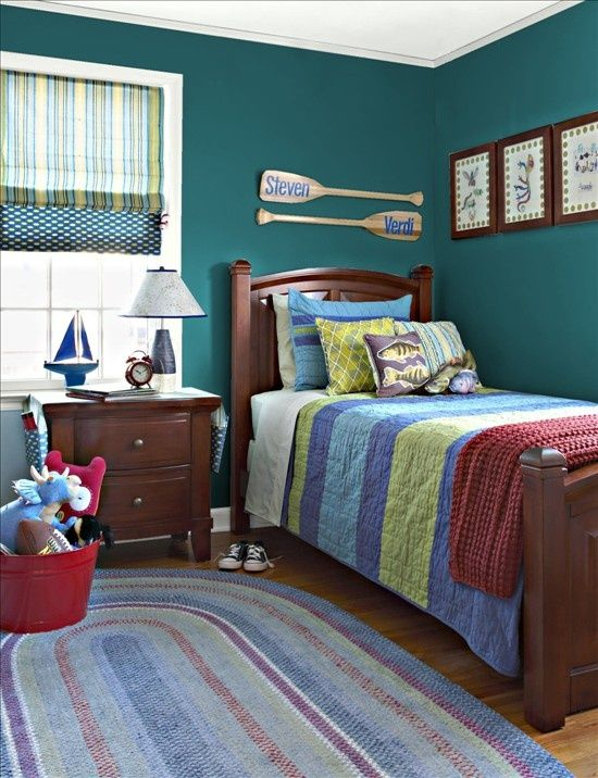 6 Year Bedroom Boy: Examples Of Rooms Benjamin Moore Spotswood Teal