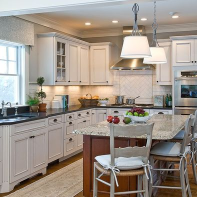 White Cabinets Dark Countertops White Backsplash  Good Kitchen Glamorous Kitchen Design Website Review