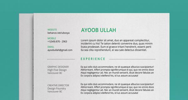 FREE Resume Template by Ayoob Ullah, via Behance life skillz - free resume templates 2014