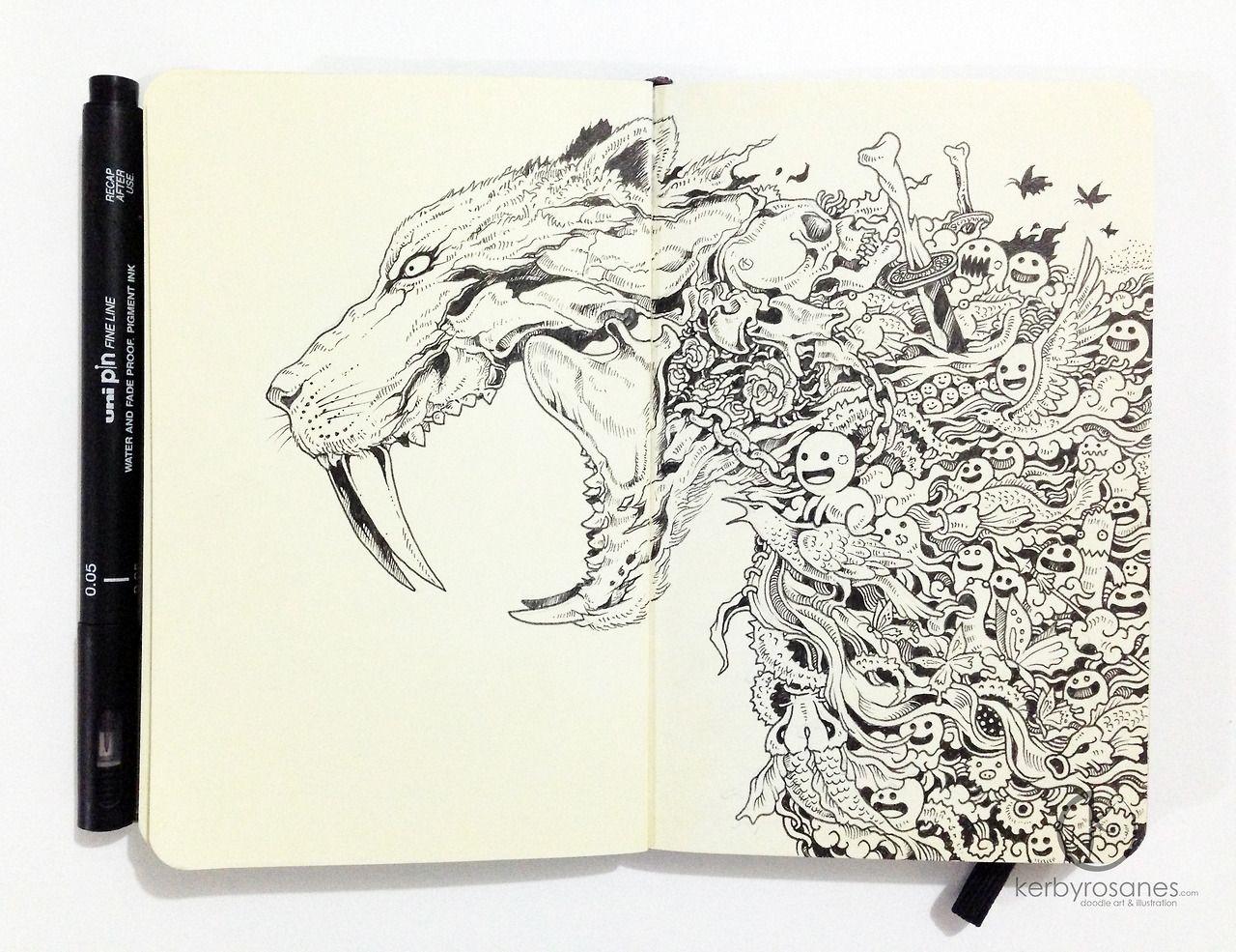 moleskine doodles page 24