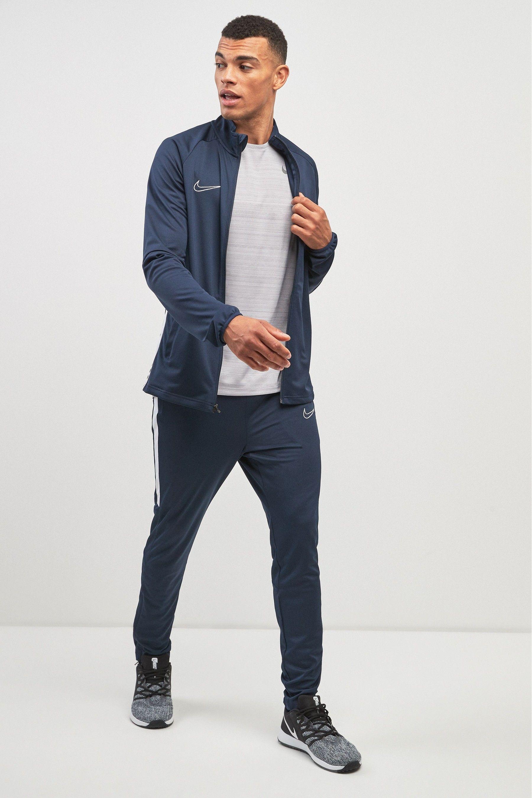 Mens Nike Academy Tracksuit Blue | Nike men, Nike dri fit