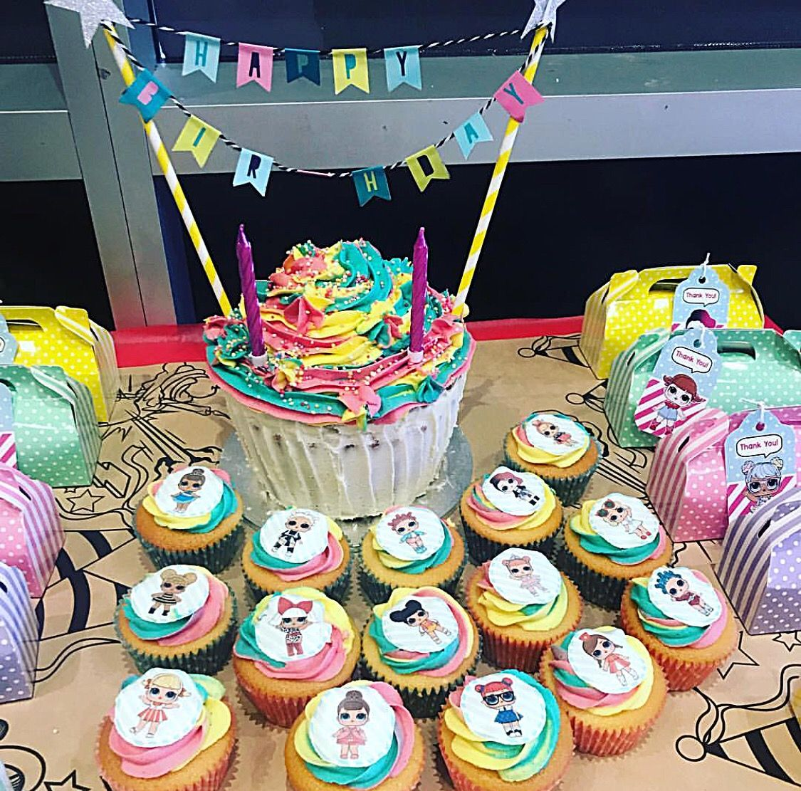 Lol Surprise Dolls Birthday Cake Amp Cupcakes