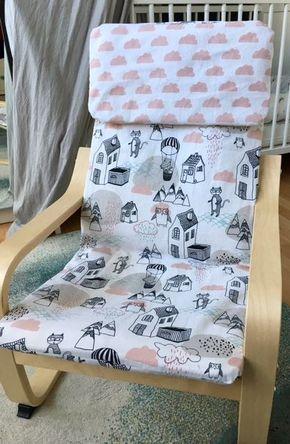 DIY Tutorial » Bezug für Ikea Poäng Kindersessel nähen #babyheadbandtutorial