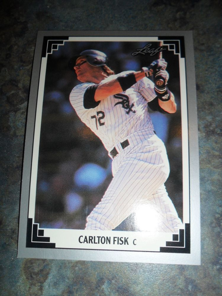 1991 Leaf 384 Carlton Fisk Baseball Card Baseball Cards Baseball Cards For Sale Cards