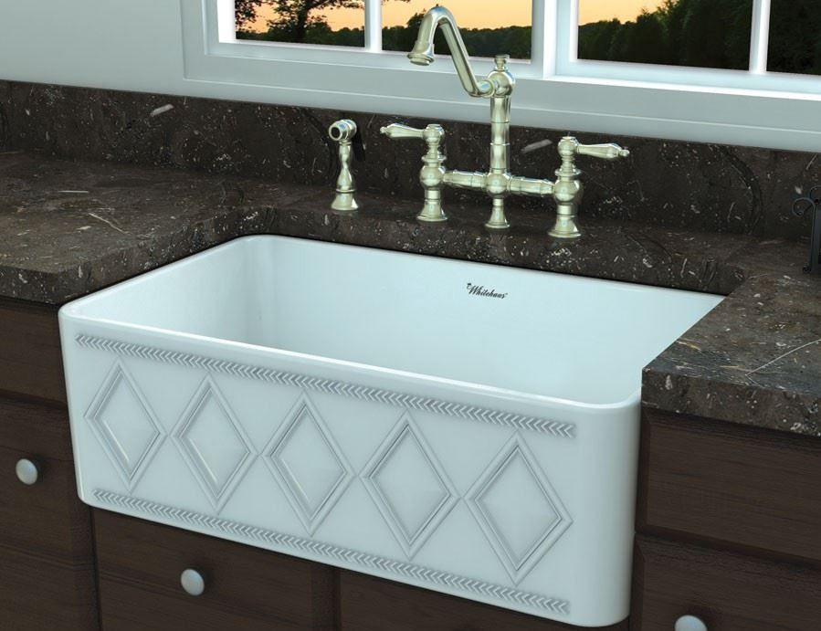 30 Whitehaus Fireclay Farmhouse Sink Whfldi3018 White Fireclay Farmhouse Sink Fireclay Sink Kitchen Makeover
