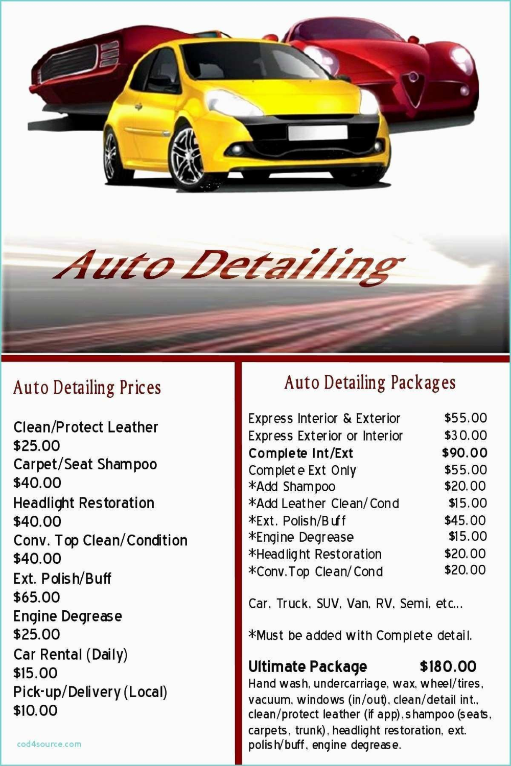 Auto Detailing Gift Certificate Template With Free Plus Together As Pertaining To Automotive Gift Certificate Template In 2020 Gift Certificate Template Automotive Gift Certificate Templates