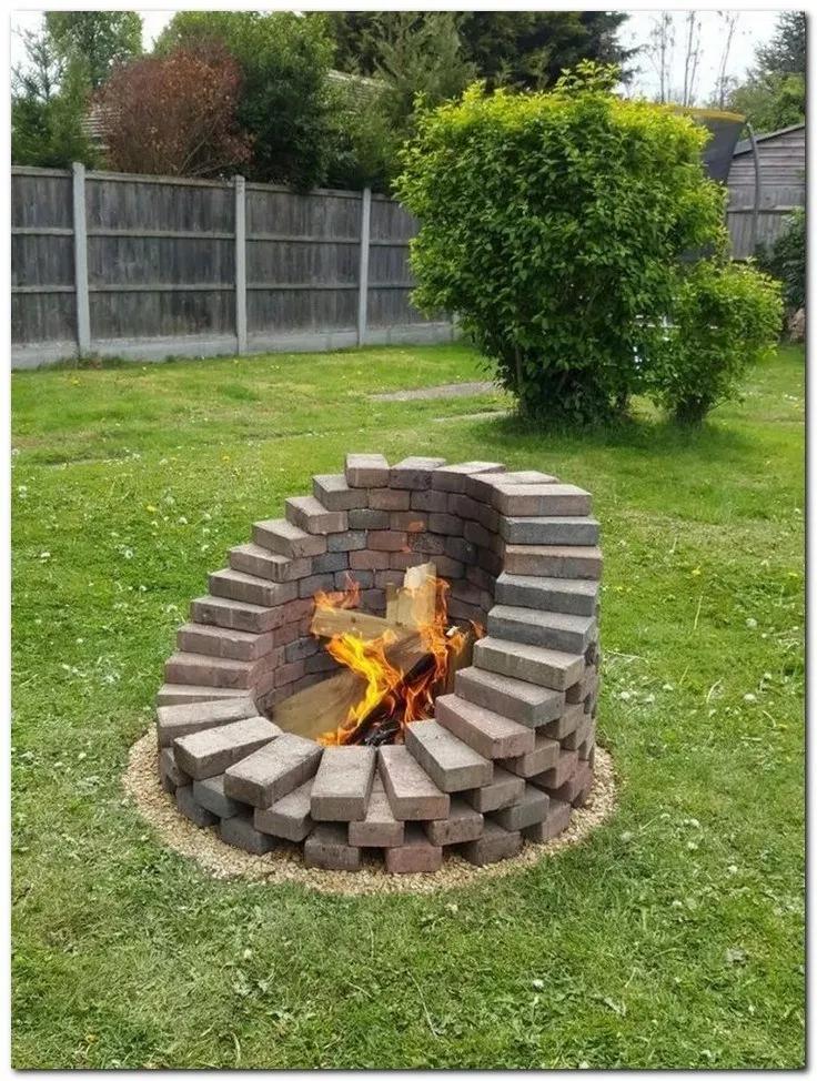 Fire pit, Cool fire pits, Backyard diy projects, Diy backyard, Backyard fire, Ba...,  #Backya... #backyardlandscapedesign