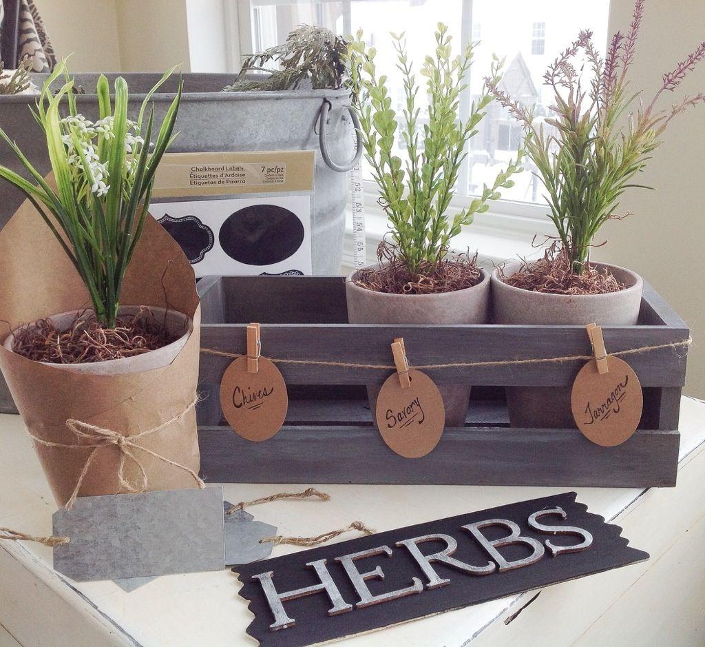 DIY Vintage Herb Planter Herb planters, Diy herb garden