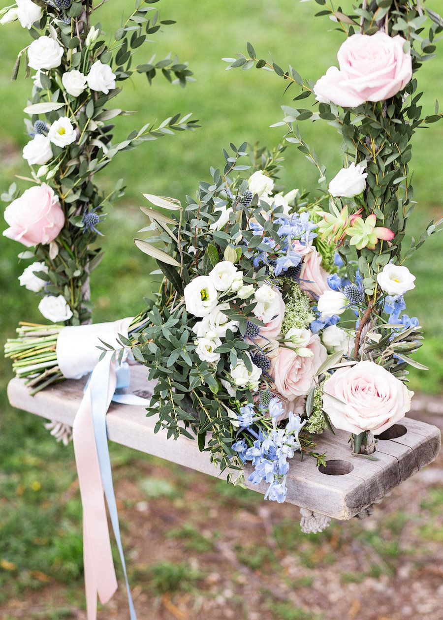 gorgeous rose quartz and serenity bouquet