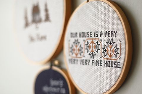 Cross Stitch Our House Is A Very Very Very Fine House With Two