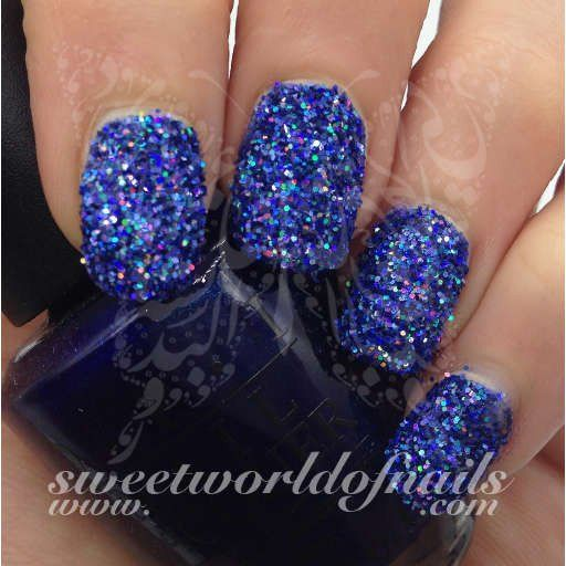 Nail Glitter Light Blue Sparkle Glitter Dust Powder Nail Art