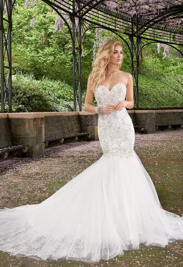 Rhinestone Drop Waist Wedding Dress from Camille La Vie and Group ...