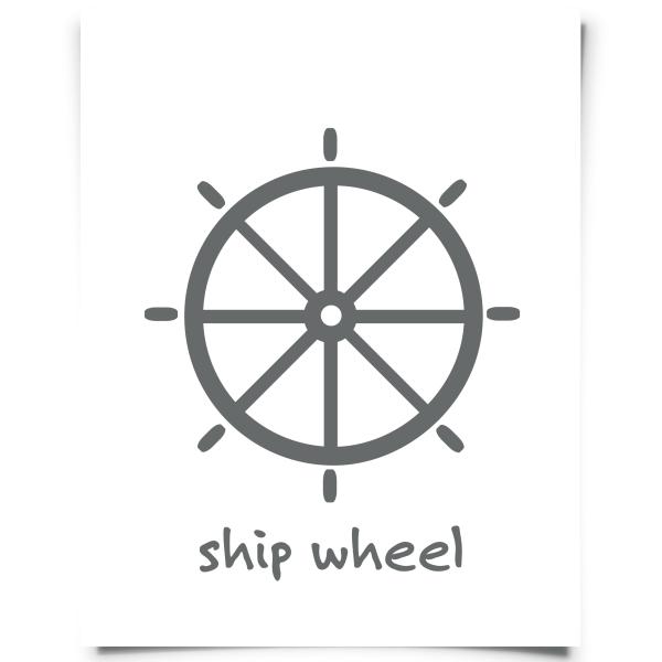 Ship Wheel Coastal Art Print | Coastal art, Nursery wall ...