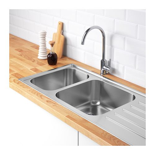 Kitchen Sink Bump Out: BOHOLMEN 2 Bowl Inset Sink With Drainer