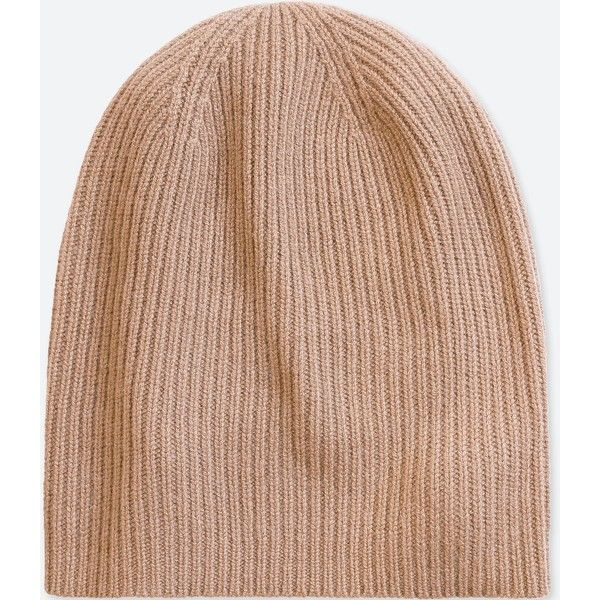 b141f3a715402 UNIQLO Cashmere Knitted Beanie ( 30) ❤ liked on Polyvore featuring  accessories