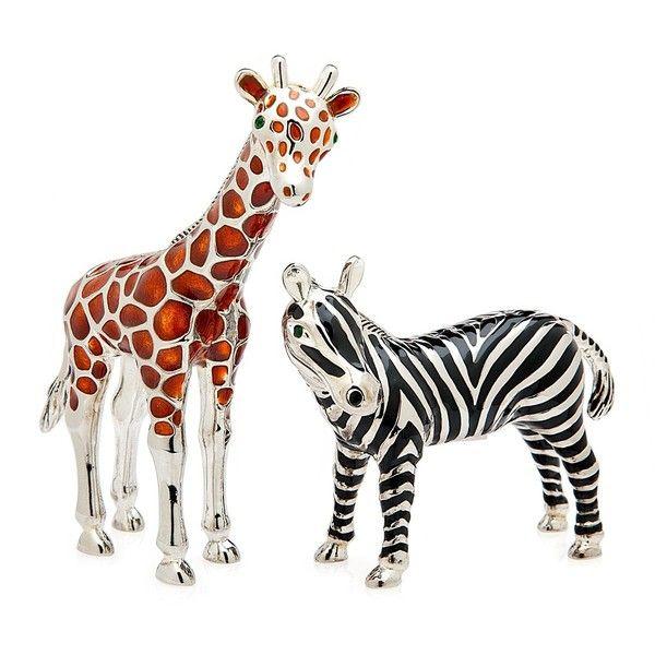 Godinger Giraffe & Zebra Salt & Pepper Shakers (23 AUD) ❤ liked on Polyvore featuring home, kitchen & dining, serveware, african shakers, godinger salt and pepper shakers, godinger serveware and godinger