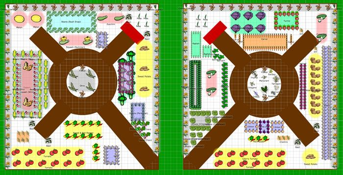 Vegetable garden planner tool - tells you what grows well ...
