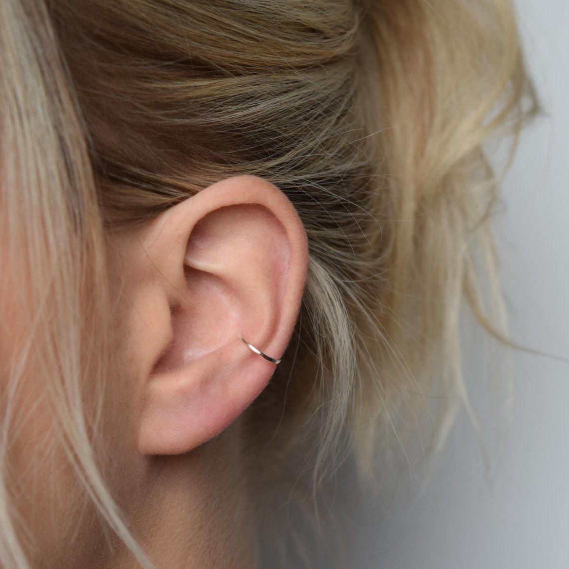 Ear Cuff Silver Ear Cuff Ear Wrap Hammered Ear Cuff Conch
