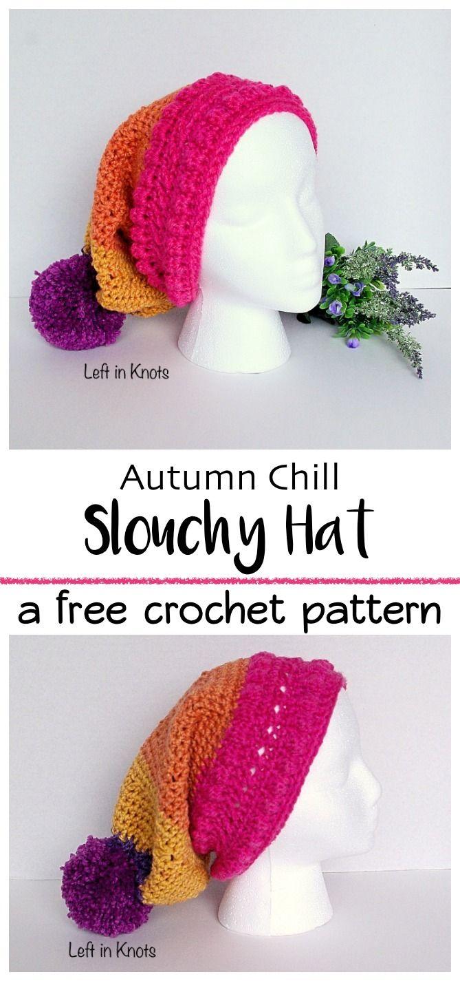 Autumn Chill Slouchy Hat   Gorros, Gorros crochet y Gorros para bebés