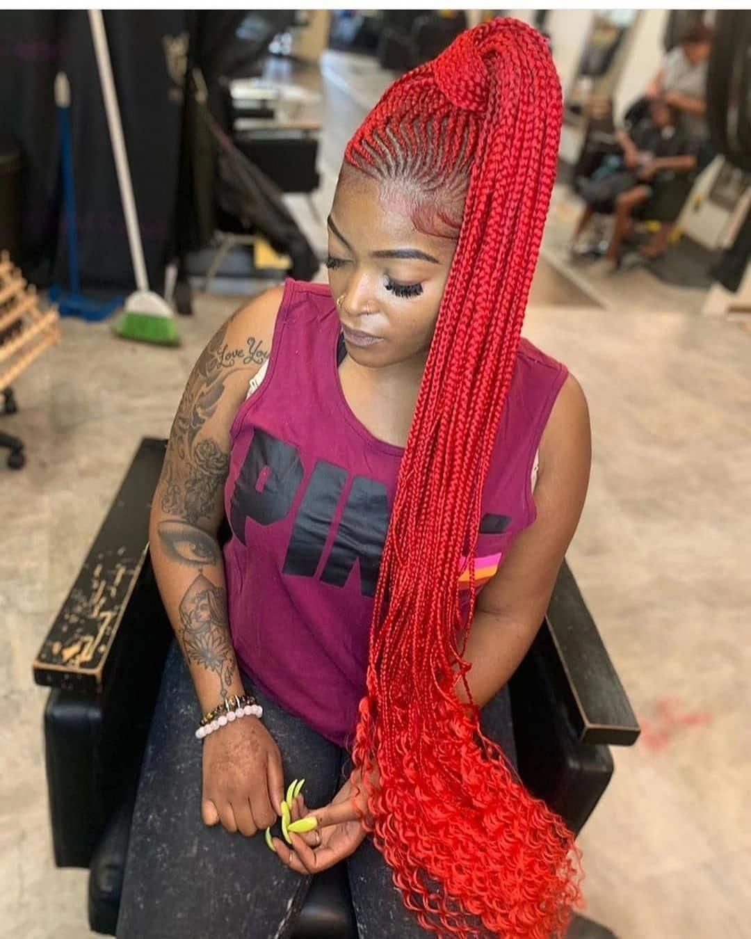 Excellent Hairstyle Ideas For Black Women Of African American Ethnicity Braids Braided Afro Hairstyles Braided Hairstyles Natural Hair Styles For Black Women