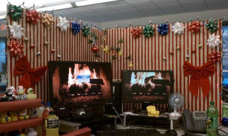 Beautiful Cubicle With Ideas Decorating Christmas Cool Office - decorate cubicle for halloween