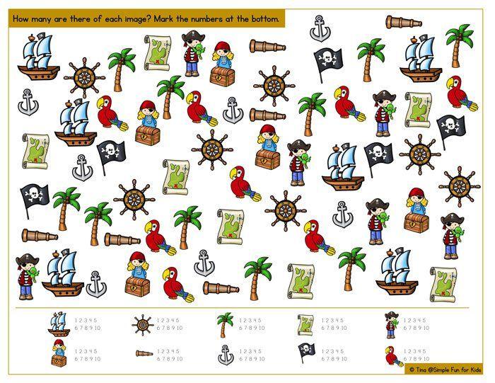 Printable Pirate I Spy Game | Spy games, Spy and Count