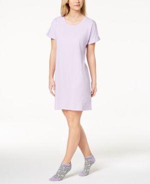 f6c7a63f8e69 Jenni by Jennifer Moore Graphic-Print Sleepshirt With Socks, Created for  Macy's - Purple XXL