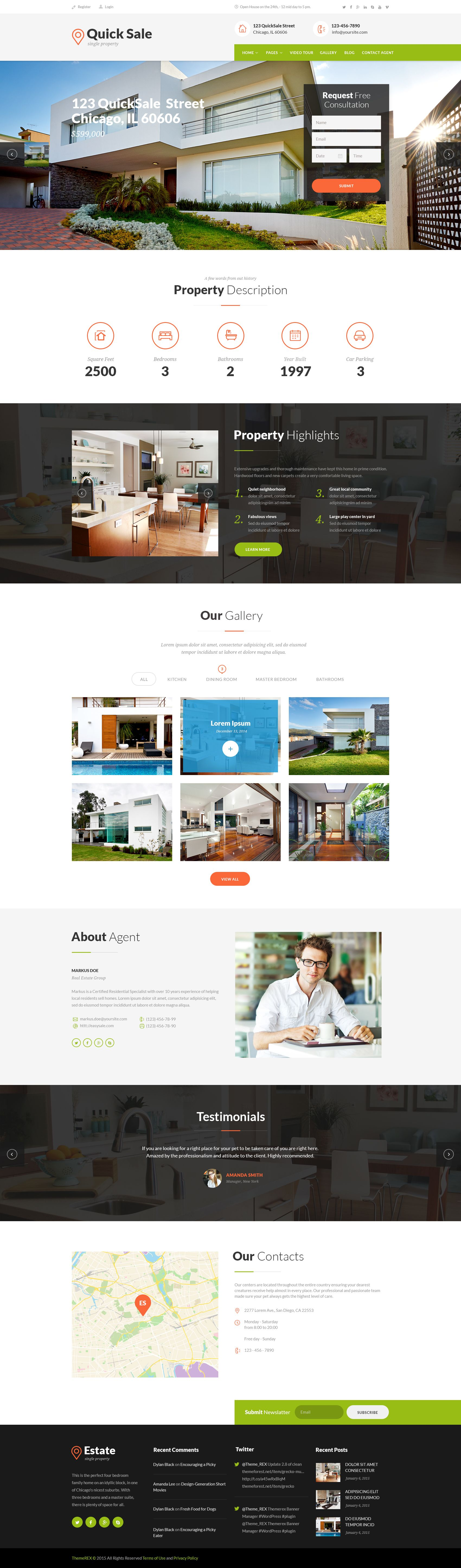 Quick Real Estate Html Theme Fsbo Home Homes Housing Landing Page 17