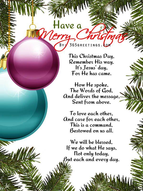 Christmas Poems For Kids Christmas poems, Kids christmas