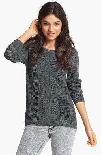 Rubbish Cable Knit Sweater Juniors Available At Nordstrom For