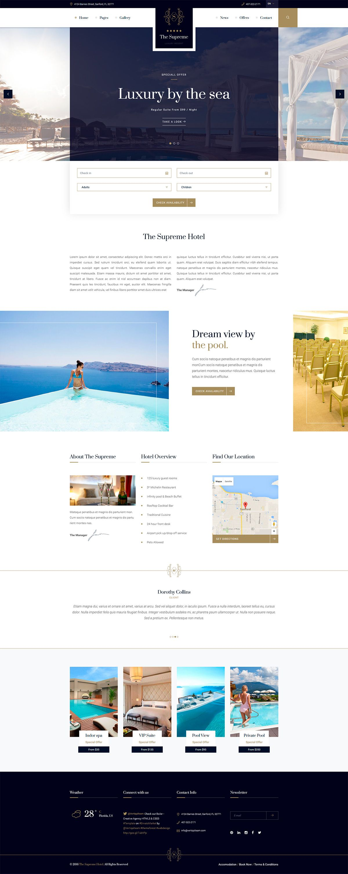the supreme luxury hotel template website web hotel holiday