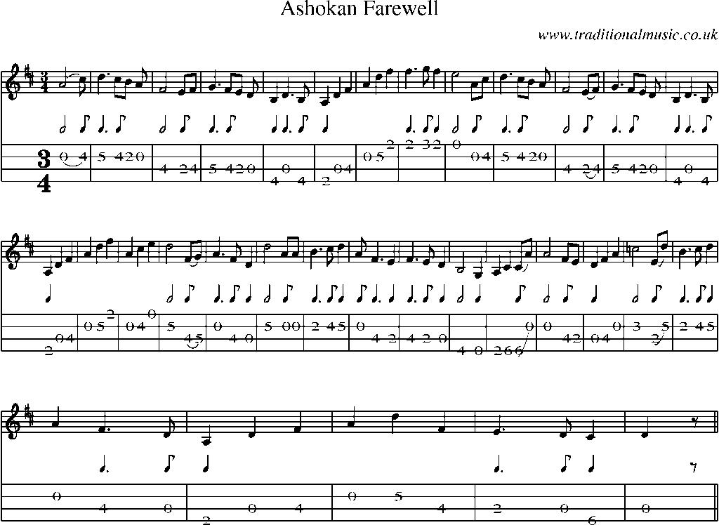 Mandolin Tab And Sheet Music For Ashokan Farewell My Mandolin