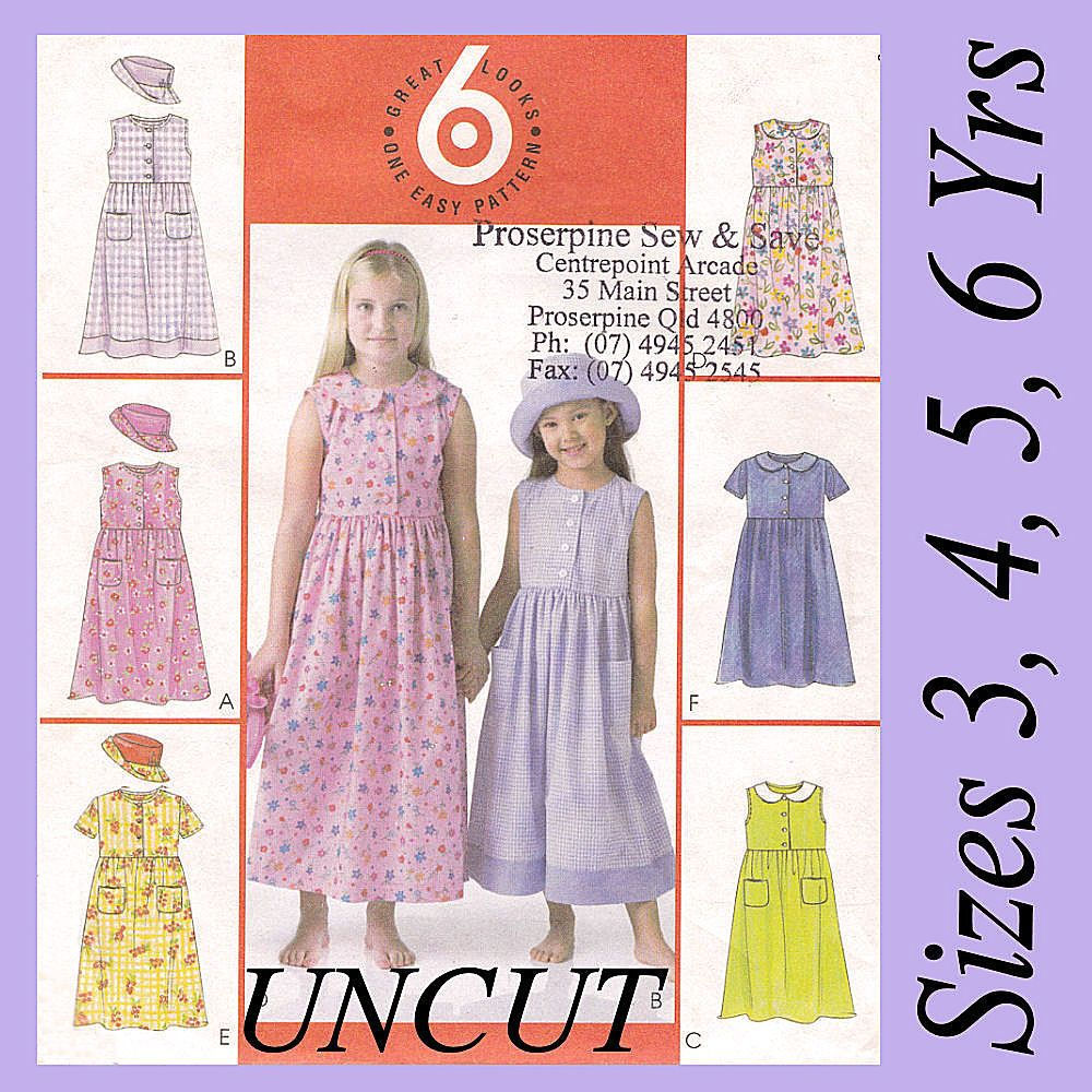 Girls dresses tunics peter pan collar hats mccalls m 4432 girls dresses tunics peter pan collar hats mccalls m 4432 sewing pattern new bankloansurffo Image collections