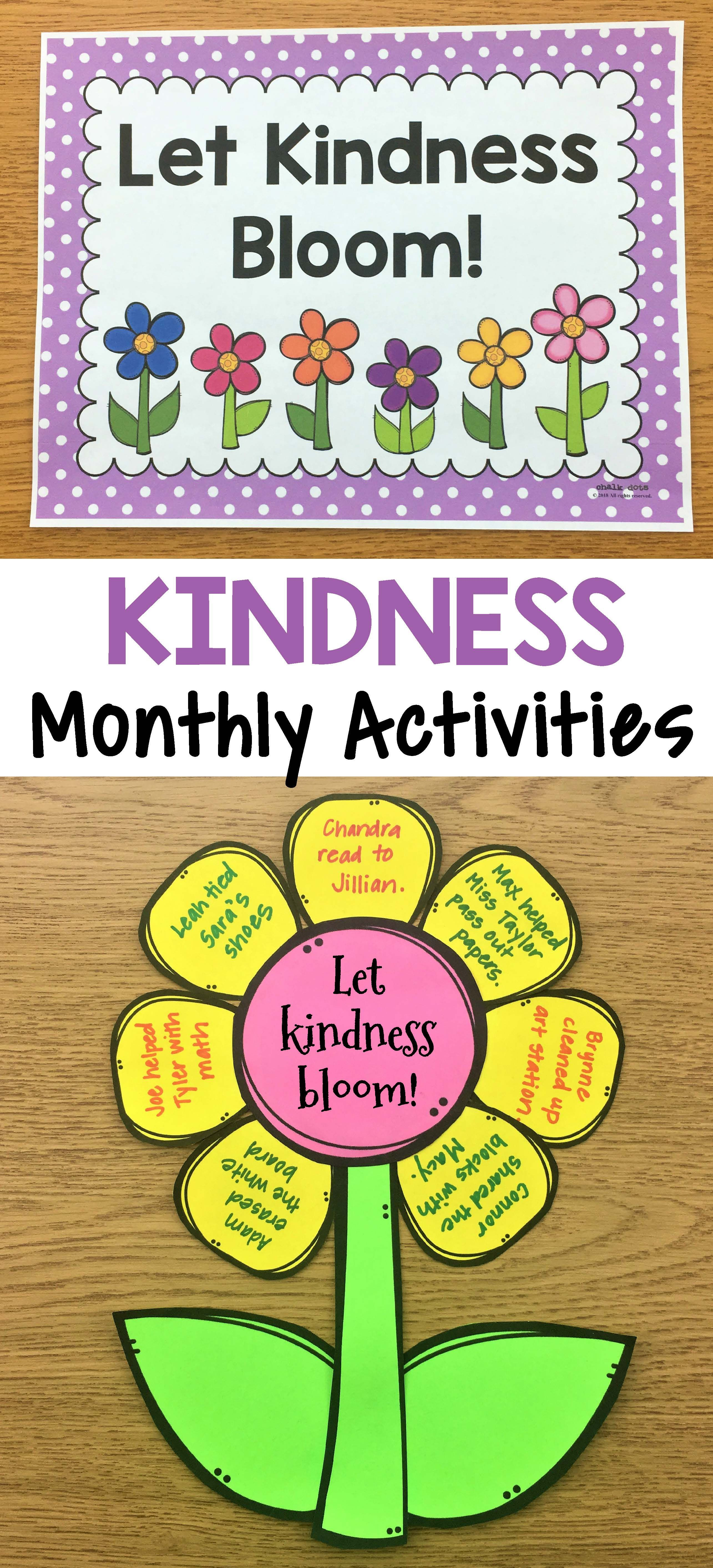 Kindness Activities Monthly Kindness Activities And Posters