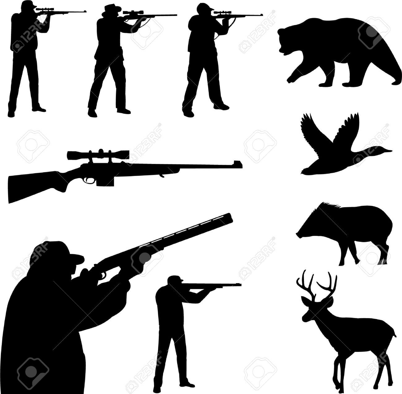Deer Hunting Cliparts, Stock Vector And Royalty Free Deer ...